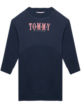 Tommy Hilfiger Tommy Hilfiger Rochie de zi Graphic Sweat KG0KG05926 D Bleumarin Regular Fit