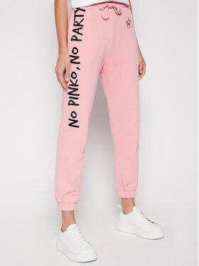 Pinko Pinko Spodnie dresowe Enologia PE 21 PRR 1N1342 Y7ED Różowy Regular Fit