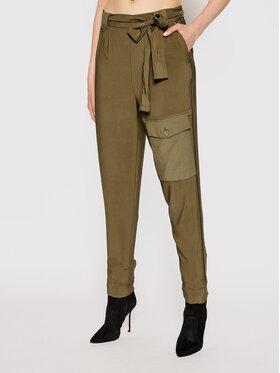 TwinSet TwinSet Текстилни панталони 211TT2161 Зелен Regular Fit