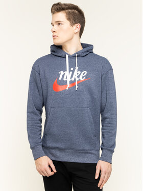 Nike Nike Mikina Heritage BV2933 Modrá Regular Fit