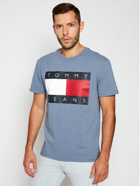Tommy Jeans Tommy Jeans T-Shirt Faded Ink DM0DM07009 Blau Regular Fit