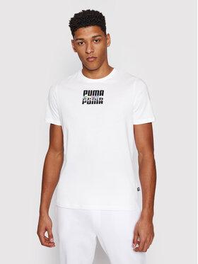Puma Puma Тишърт Core International Tee 587768 Бял Regular Fit