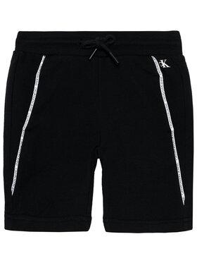 Calvin Klein Jeans Calvin Klein Jeans Pantaloni scurți sport Logo Piping IB0IB00929 Negru Regular Fit