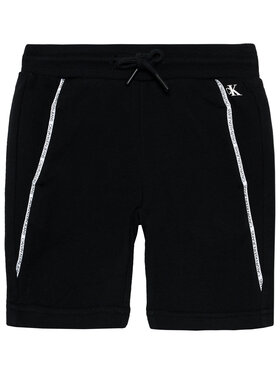 Calvin Klein Jeans Calvin Klein Jeans Szorty sportowe Logo Piping IB0IB00929 Czarny Regular Fit