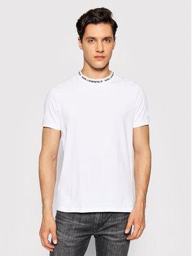 KARL LAGERFELD KARL LAGERFELD T-shirt Crewneck 755022 511221 Bijela Slim Fit