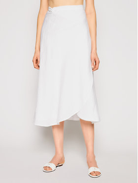 Seafolly Seafolly Midi sukně Essential Bias Wrap 54213-SK Bílá Regular Fit