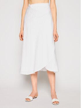 Seafolly Seafolly Φούστα midi Essential Bias Wrap 54213-SK Λευκό Regular Fit