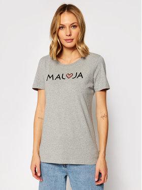 Maloja Maloja T-Shirt GatschiM. 30409-1-7096 Grau Regular Fit