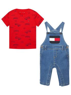 Tommy Hilfiger Tommy Hilfiger Komplet t-shirt i ogrodniczki Baby Dungaree Set KN0KN01339 Kolorowy Regular Fit