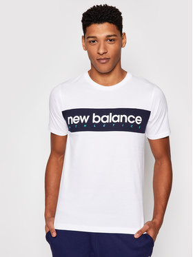 New Balance New Balance T-shirt Athletics Linear Nb Tee MT11548 Blanc Athletic Fit