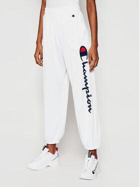 Champion Champion Pantalon jogging All-Over Script Logo Blanc Custom Fit
