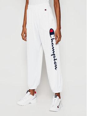Champion Champion Teplákové kalhoty All-Over Script Logo Bílá Custom Fit