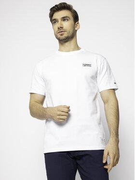Tommy Jeans Tommy Jeans T-Shirt Corp Logo DM0DM07194 Weiß Regular Fit