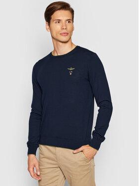 Aeronautica Militare Aeronautica Militare Sweater 212MA1344L415 Sötétkék Regular Fit