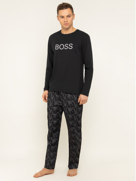 Boss Boss Пижама Fashion Long Set 50420224 Сив