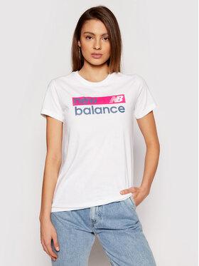 New Balance New Balance Marškinėliai WT03806 Balta Athletic Fit
