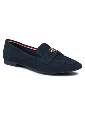 Tommy Hilfiger Tommy Hilfiger Лоуфъри Essential Hardware Loafer FW0FW05645 Тъмносин