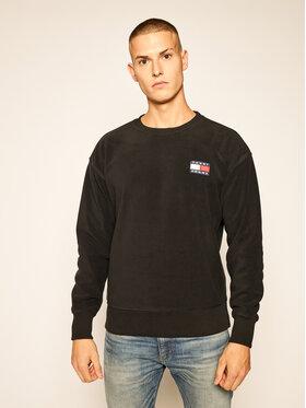 Tommy Jeans Tommy Jeans Fleecová mikina Fleece Badge Crew DM0DM08728 Černá Regular Fit