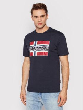 Napapijri Napapijri T-Shirt Sench NP0A4FRR Σκούρο μπλε Regular Fit