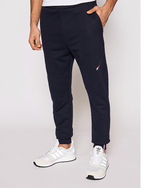 Tommy Hilfiger Tommy Hilfiger Joggers kalhoty Logo Fleece MW0MW17238 Tmavomodrá Regular Fit