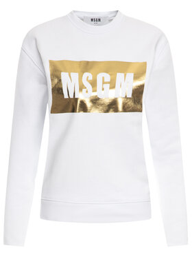 MSGM MSGM Mikina 2841MDM96 207299 01A Bílá Regular Fit
