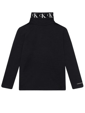 Calvin Klein Jeans Calvin Klein Jeans Поло Monogram IG0IG00674 Черен Regular Fit