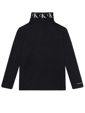 Calvin Klein Jeans Calvin Klein Jeans Rollkragenpullover Monogram IG0IG00674 Schwarz Regular Fit