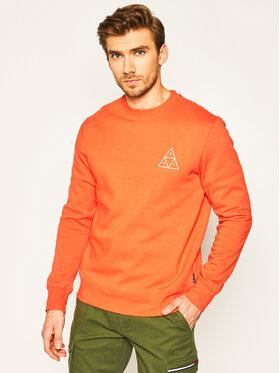 HUF HUF Bluza Essentials TT Crew PF00101 Pomarańczowy Regular Fit