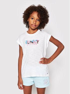 Tommy Hilfiger Tommy Hilfiger T-Shirt Photo Print KG0KG05867 D Biały Regular Fit
