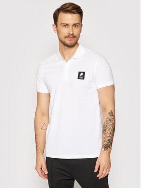 KARL LAGERFELD KARL LAGERFELD Тениска с яка и копчета Basic KL21MPL01 Бял Regular Fit