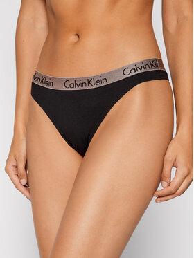 Calvin Klein Underwear Calvin Klein Underwear Stringi 000QD3539E Czarny