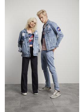Vistula Vistula Kurtka jeansowa Unisex David Bowie 15 XA1349 Niebieski Slim Fit