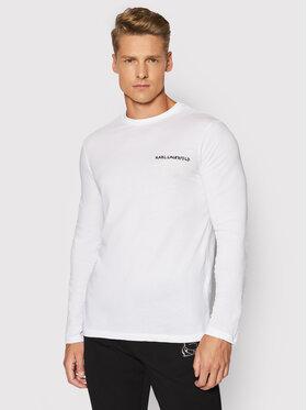 KARL LAGERFELD KARL LAGERFELD Тениска с дълъг ръкав 755040 512224 Бял Regular Fit