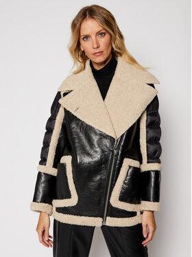 LaMarque LaMarque Kožená bunda Lisa 5884 Čierna Oversize