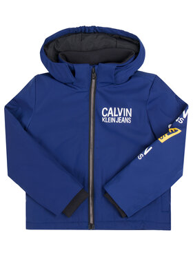 Calvin Klein Jeans Calvin Klein Jeans Kurtka puchowa Stamp Logo IB0IB00375 Granatowy Regular Fit