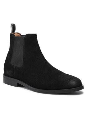 Gant Gant Členková obuv s elastickým prvkom Sharpville 23653209 Čierna