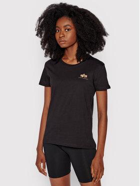 Alpha Industries Alpha Industries T-Shirt Basic Logo Foil 196054FP Schwarz Regular Fit