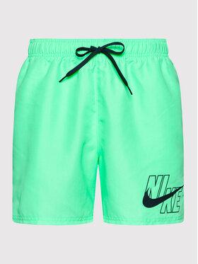 Nike Nike Pantaloncini da bagno Logo Lap 5 NESSA566 Verde Standard Fit