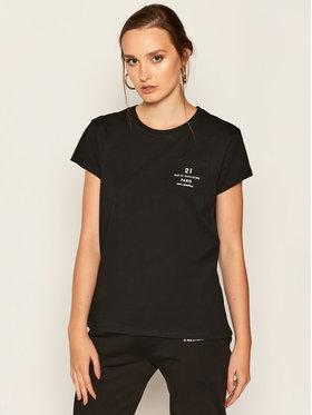 KARL LAGERFELD KARL LAGERFELD Тишърт Address Logo Pocket 205W1721 Черен Regular Fit