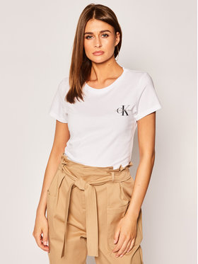 Calvin Klein Jeans Calvin Klein Jeans Комплект 2 тишъртки Lot De J20J214364 Бял Slim Fit