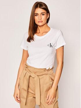Calvin Klein Jeans Calvin Klein Jeans Set 2 tricouri Lot De J20J214364 Alb Slim Fit