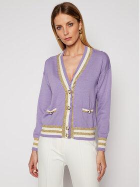 Luisa Spagnoli Luisa Spagnoli Strickjacke Maffer 0636183 Violett Regular Fit