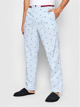 Tommy Hilfiger Tommy Hilfiger Pyžamové nohavice Woven UM0UM02356 Modrá Regular Fit
