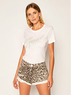 Guess Guess Тишърт Genny Tee W0YI0H K46D1 Бял Regular Fit
