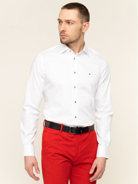 Tommy Hilfiger Tailored Tommy Hilfiger Tailored Koszula Poplin Classic TT0TT06519 Biały Regular Fit