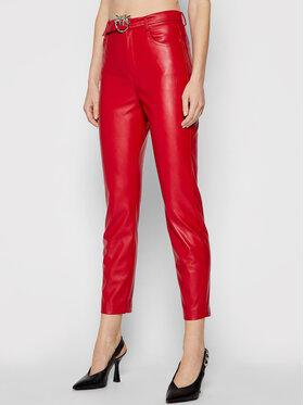 Pinko Pinko Műbőr nadrág Susan 15 1G16WU 7105 Piros Skinny Fit