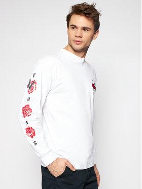 Vans Vans Majica dugih rukava Rose Bed VN0A54DM Bijela Classic Fit