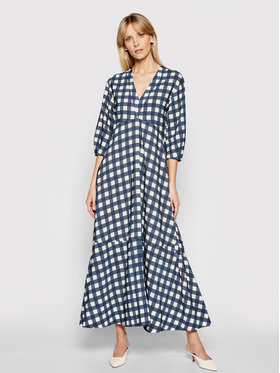 Victoria Victoria Beckham Victoria Victoria Beckham Rochie de zi Printed Faille 2221WDR002595A Bleumarin Relaxed Fit