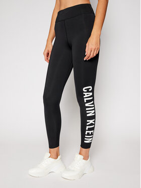 Calvin Klein Performance Calvin Klein Performance Legginsy Full Lenght 00GWF0L637 Czarny Slim Fit