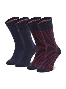 Tommy Hilfiger Tommy Hilfiger Комплект 2 чифта дълги чорапи мъжки 100001496 Тъмносин